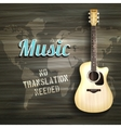 Guitar Wooden Backround vector image