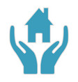 hands hold house insurance home icon vector image vector image