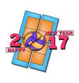 happy new year 2018 and volleyball vector image