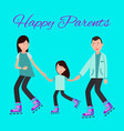 happy parents family poster vector image vector image