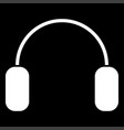 headphone the white color icon vector image