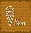 ice cream neon lights vector image