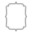 isolated frame design vector image vector image