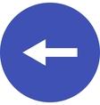 Left Arrow vector image vector image