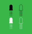 light diode icon black and white color set vector image vector image