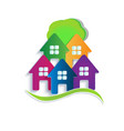 logo house apartments vector image vector image