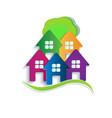 logo house apartments vector image