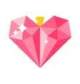 Love concept heart decoration vector image