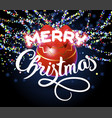 merry christmas lettering congratulation card vector image vector image