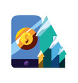 mobile money arrows vector image