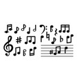 musical notes isolated on white background vector image vector image