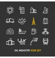 Oil Industry Outline Icon Set vector image vector image