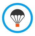 Parachute Rounded Icon vector image vector image