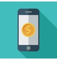 Phone with dollar sign vector image vector image