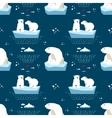 Polar teddy-bear seamless pattern vector image