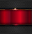 red metallic background vector image vector image