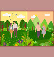 romantic day couple walking outdoor vector image vector image