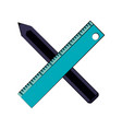 ruler with pencil icon image vector image vector image