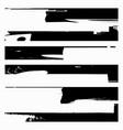 set black grunge design element vector image vector image