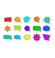 set cartoon speech bubbles on white background vector image vector image