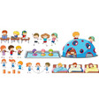 set of children activity vector image vector image