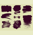 Set of hand drawn brush strokes and stains vector image