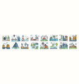 set of landscape icons or symbols collection vector image vector image