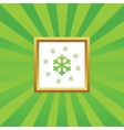 Snow picture icon vector image vector image