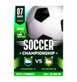 soccer sport championship final game poster vector image vector image