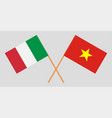 socialist republic of vietnam and italy flags vector image