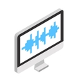 Sound wave in monitor vector image