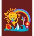 summer set happy sun vector image vector image