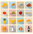 Supermarket foods icons set vector image
