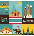 Symbols of Bangkok vector image vector image