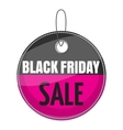 Tag black friday sale icon cartoon style vector image