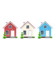 three kinds of houses vector image vector image