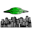 ufo hiring at night city search professional vector image