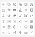 universal symbols 36 modern line icons of vector image vector image
