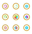upload cursor icons set cartoon style vector image vector image