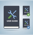 User Guide Manual Book vector image vector image