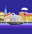 venice city colorful flat style vector image