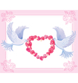Wedding doves vector image vector image