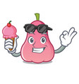 with ice cream rose apple character cartoon vector image