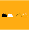 woman bag it is white icon vector image vector image