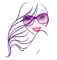 women in sunglasses vector image vector image