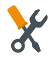 wrench with screwdriver tools vector image vector image