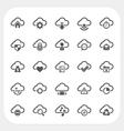 Cloud icons set vector image