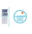 Surf Logo Wave logotype blue vector image