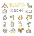 navigation outline location pin pictogram vector image