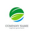 green leaf business company logo vector image